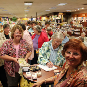 Wanda signing books in Pennsylvania