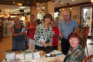 Wanda signing books in Sarasota, Florida