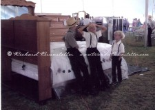 Amish boys and a bed