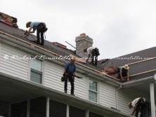 Amish work frolic
