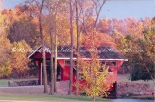 Covered bridge in the fall