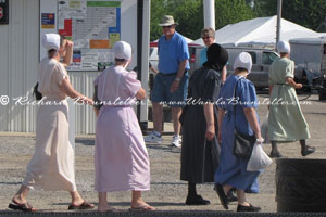 Amish women at the flea market
