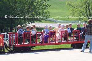 Amish Children on Train