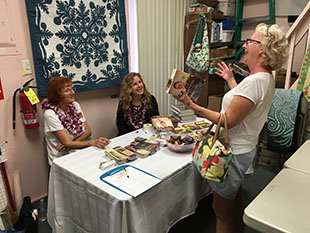 Wanda at a signing in Maui, Hawaii